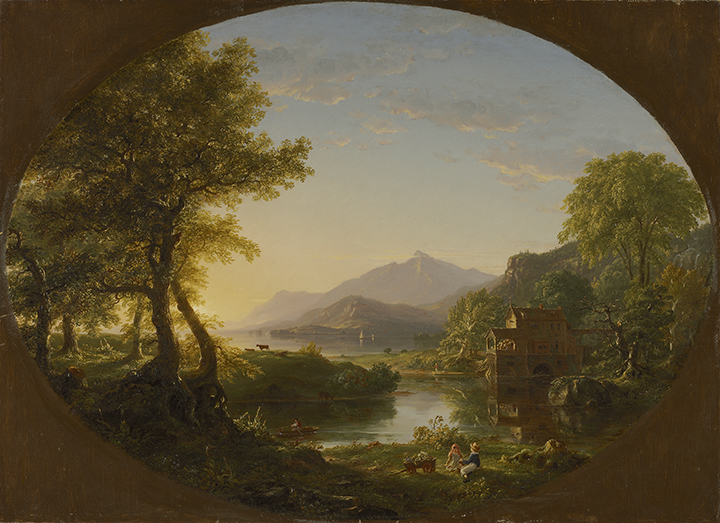 Thomas Cole, <em>The Mill, Sunset</em>, 1844.