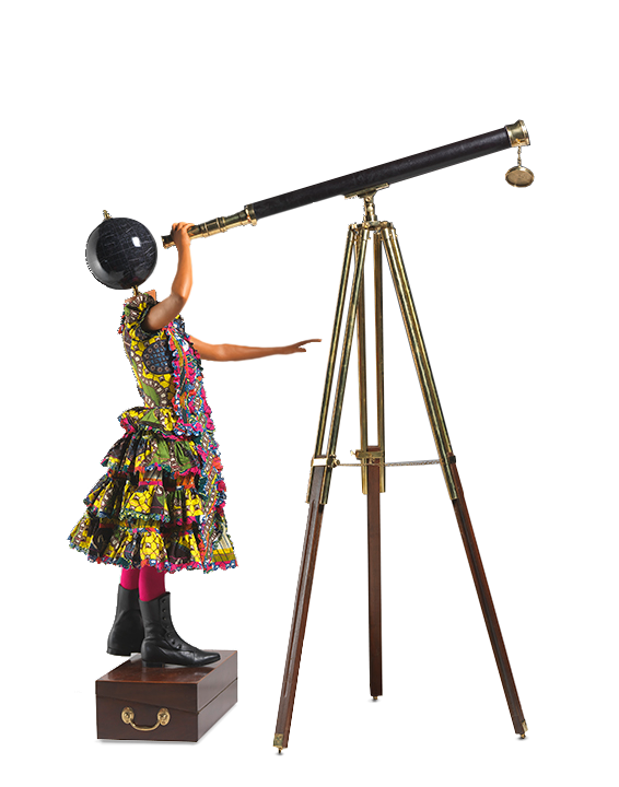 Yinka Shonibare, Nigerian, b. 1962. <em>Planets in My Head, Physics</em>, 2010.