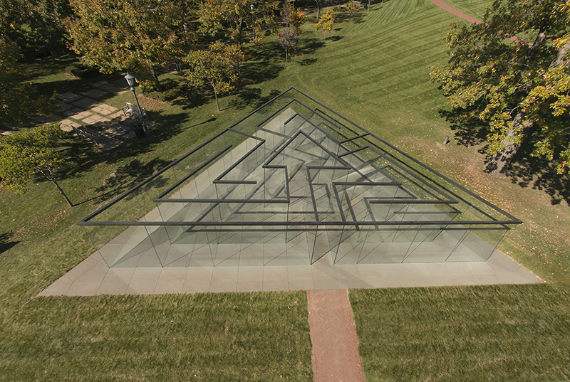 Robert Morris, American (b. 1931). <em>Glass Labyrinth</em>, 2013.
