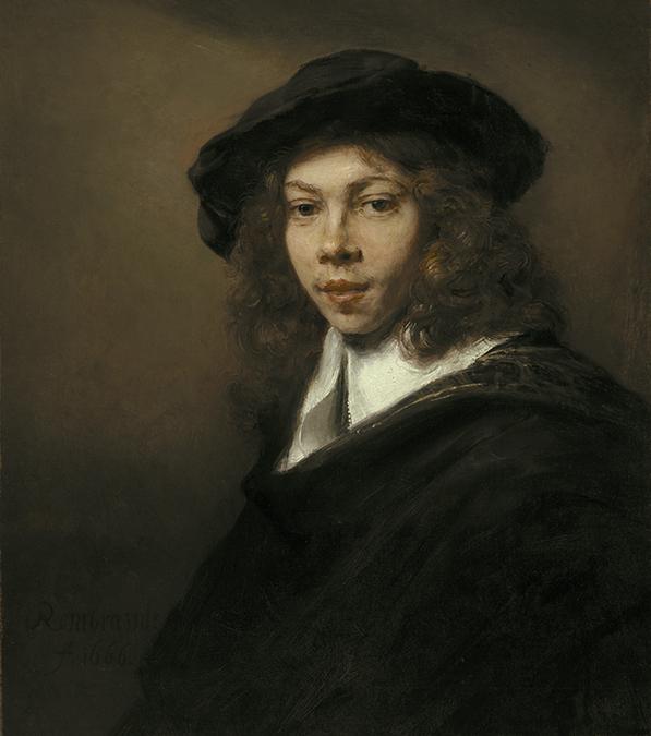 Rembrandt Harmensz. van Rijn, <em>Young Man in a Black Beret</em>, 1666.