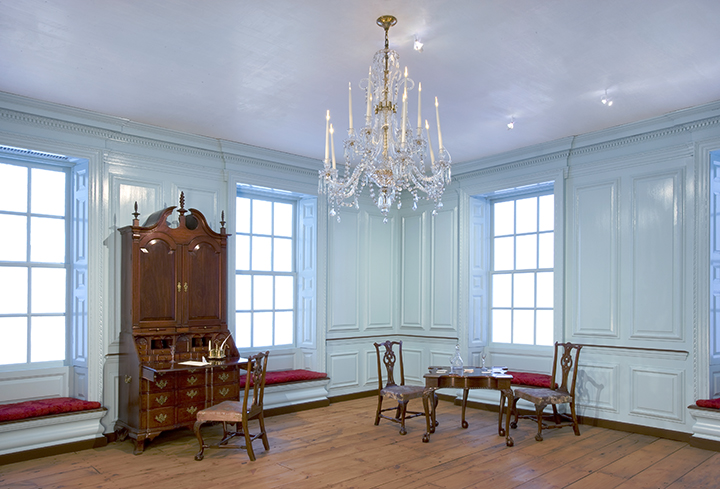 <em>Hall from the Robert Hooper House</em> (Danvers, Massachusetts), ca. 1754.