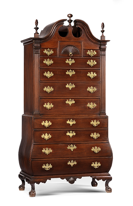 Attributed to the Workshop of Nathaniel Gould, American (Salem, Massachusetts), 1734-1782. <em>Chest-on-Chest</em>, ca. 1760.