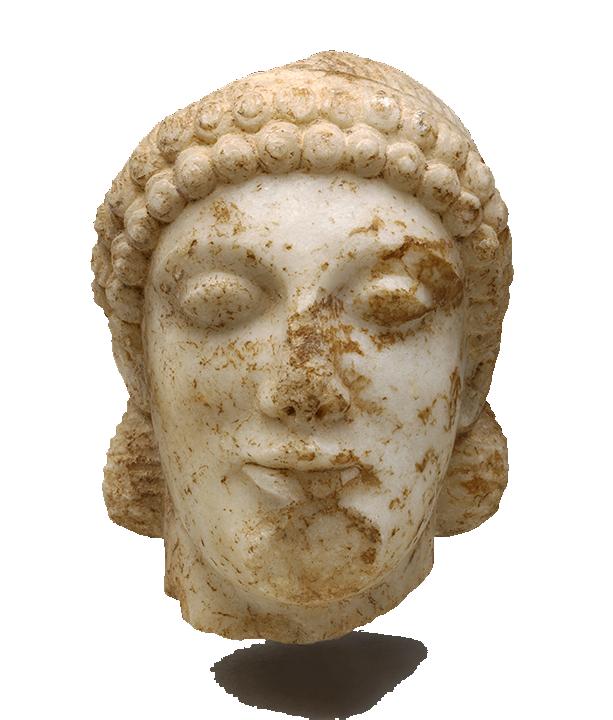 <em>Kouros (Boy)</em>, ca. 490 B.C.E.