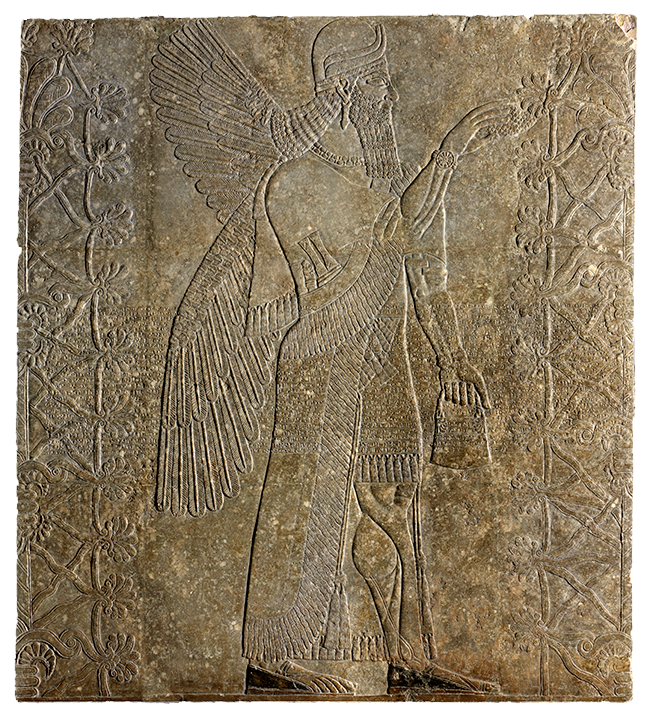 <em>Winged Genie Fertilizing a Date Tree</em>, 884-860 B.C.E.