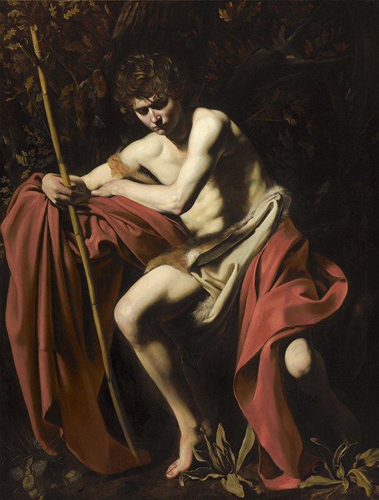 Michelangelo Merisi, called Caravaggio, <em>Saint John the Baptist in the Wilderness</em>, ca. 1604.