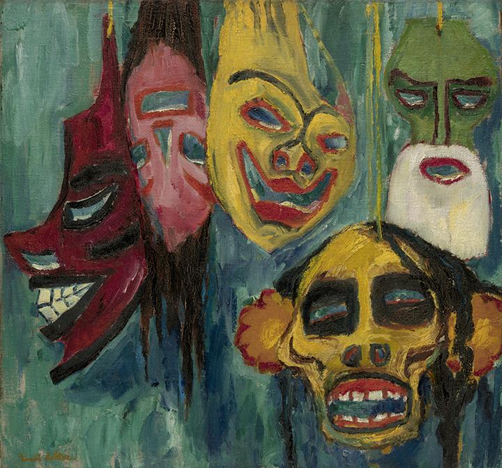 Emil Nolde, German (1867-1956). <em>Masks</em>, 1911.