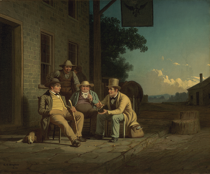 George Caleb Bingham, <em>Canvassing for a Vote</em>, 1852.