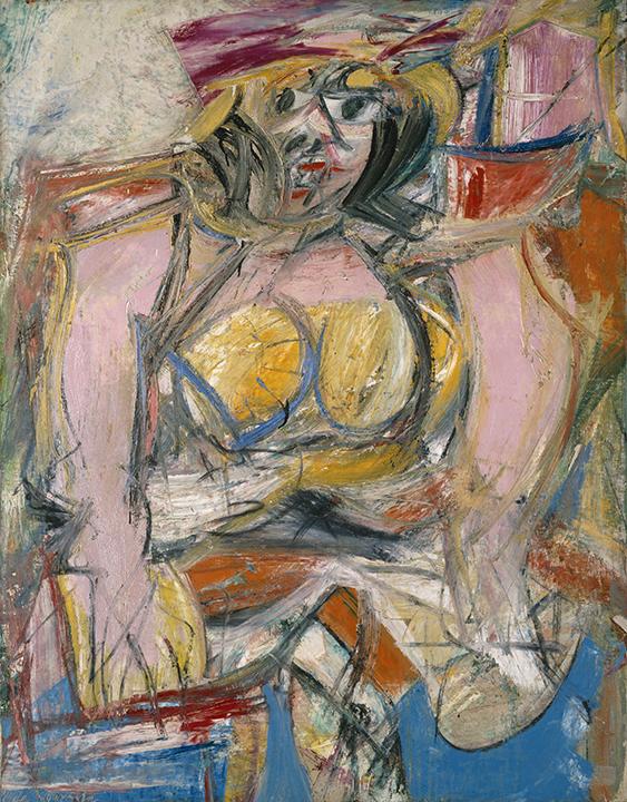 Willem de Kooning, American (b. The Netherlands, 1904-1997). <em>Woman IV</em>, 1952-1953.