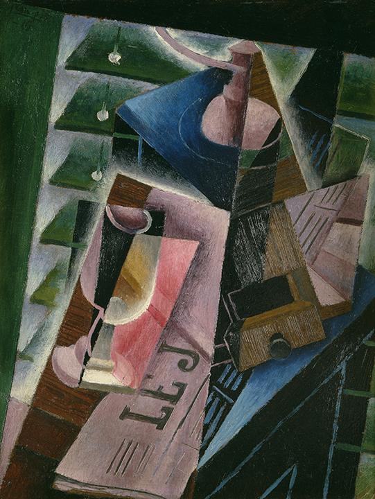 Juan Gris, Spanish (1887-1927). <em>Coffee Grinder and Glass</em>, 1915.