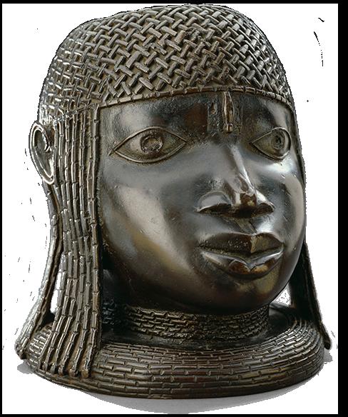 <em>Commemorative Head of an Oba</em>, Nigeria, 16th century.