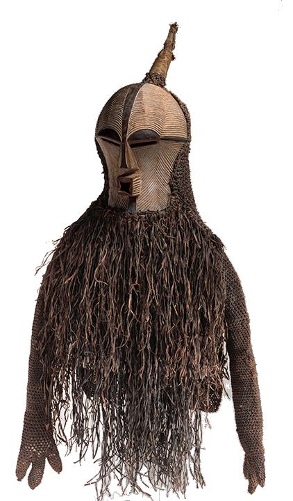 <em>Mask of the Bwadi bwa Kifwebe Society</em>, Democratic Republic of Congo, late 19th century.