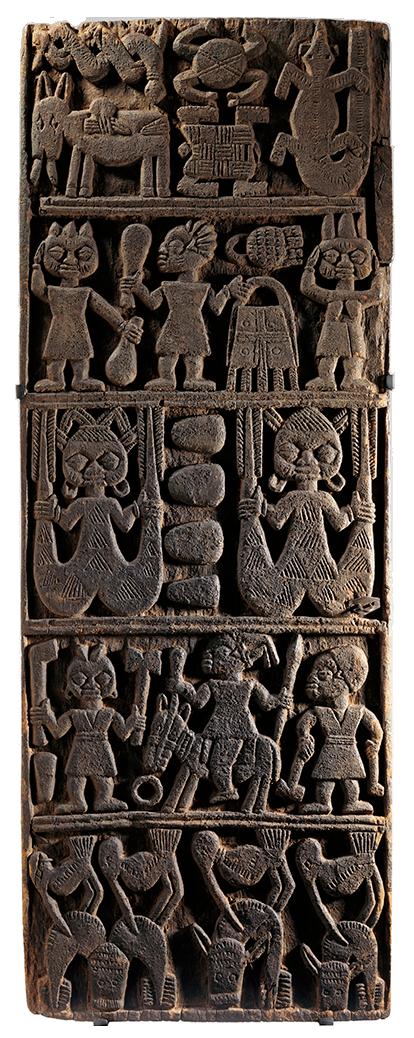 <em>Door from Shrine for Deity Shango</em>, Nigeria, 19th century.