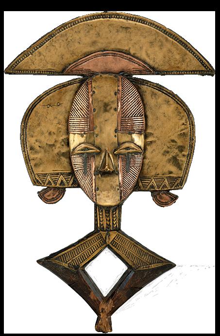 <em>Reliquary Guardian Figure</em>, Gabon, 19th century.