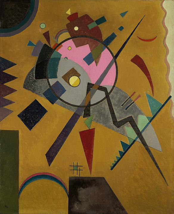 Wassily Kandinsky, Russian (1866-1944). <em>Rose with Gray</em>, 1924.