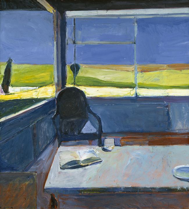 Richard Diebenkorn, American (1922-1993). <em>Interior with a Book</em>, 1959.