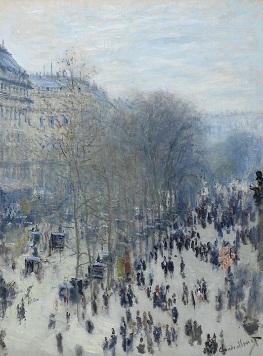 Claude Monet, <em>Boulevard des Capucines</em>, 1873-1874.