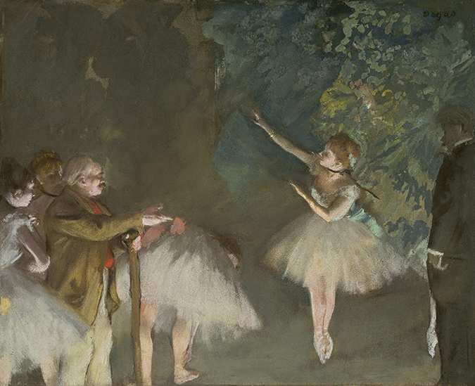 Edgar Degas, <em>Rehearsal of the Ballet</em>, ca.1876.