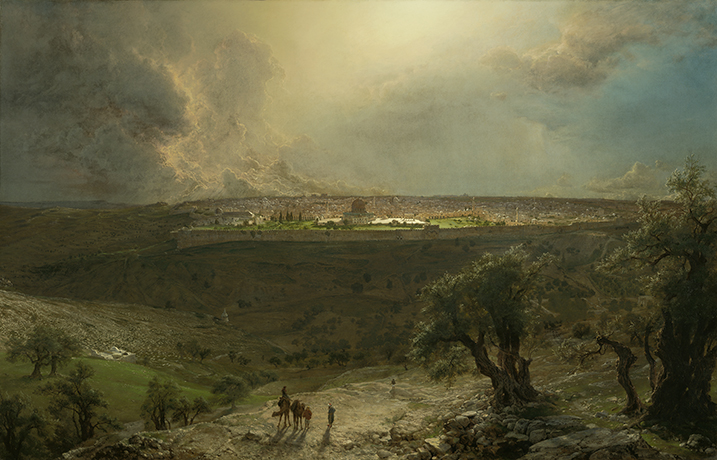 Frederic Edwin Church, <em>Jerusalem from the Mount of Olives</em>, 1870.