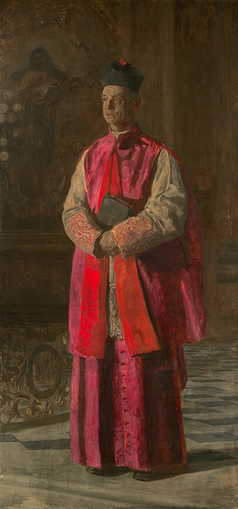 Thomas Eakins, <em>Monsignor James P. Turner</em>, ca. 1906.