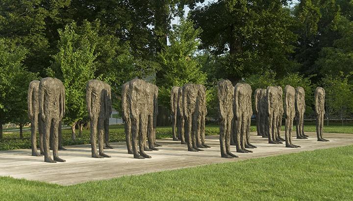 Magdalena Abakanowicz, Polish (b. 1930). <em>Standing Figures (Thirty Figures)</em>, 1994-1998.