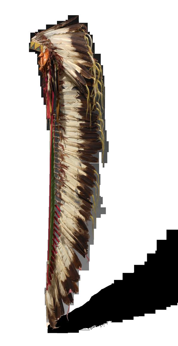 <em>Eagle Feather Headdress</em>, ca. 1875.