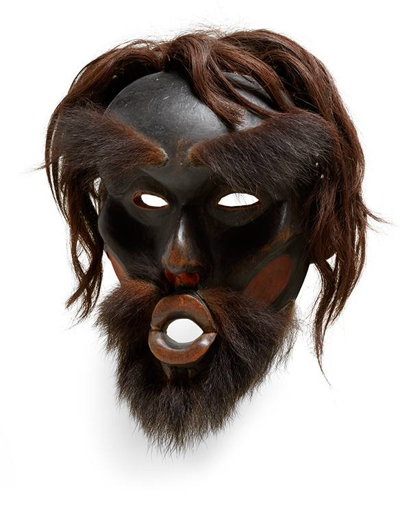 <em>Dzunukwa Mask or Gikamhl (Chief's Mask)</em>, ca. 1870.
