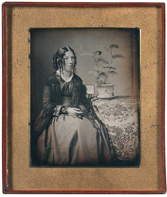 Southworth and Hawes. Albert Sands Southworth, American (1811-1894); Josiah Johnson Hawes, American (1808-1901). <em>Harriet Beecher Stowe</em>, (ca. 1843-1845).