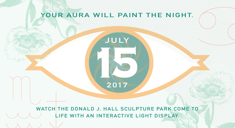 For one night only, we have commissioned an interactive art station for your muse to truly inspire light throughout the Donald J. Hall Sculpture Park.