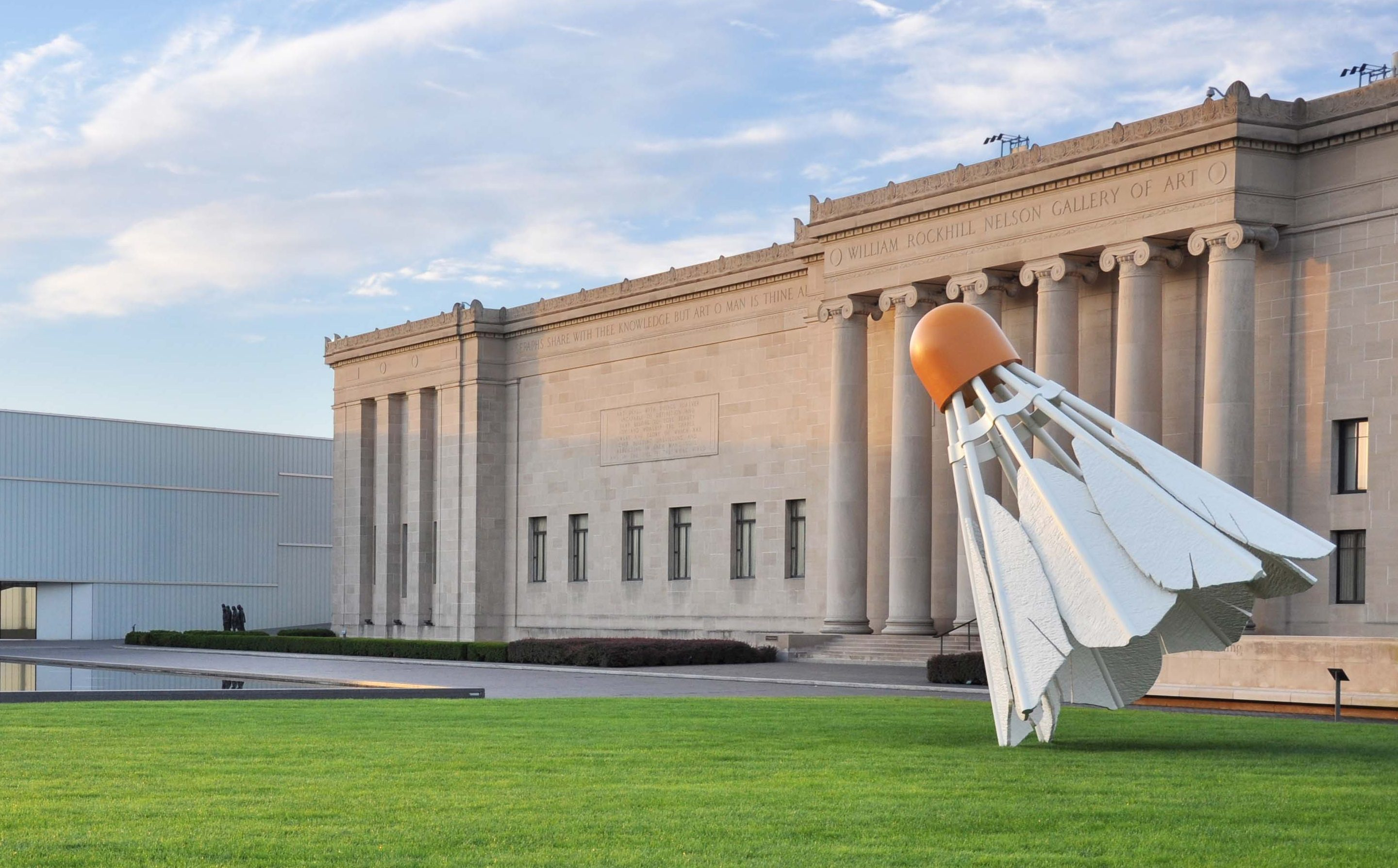 The Nelson-Atkins from the north with the Shuttlecock