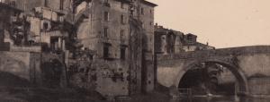 Photograph of a bridge in Rome, 1853.