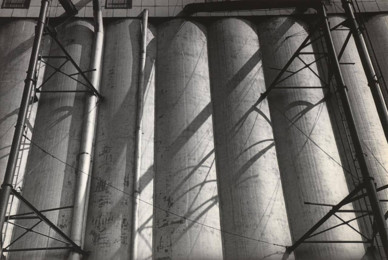 Grain Elevators in Buffalo by Ralston Crawford
